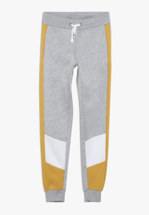 COLOUR BLOCK SIDE STRIPE - Pantalones deportivos - mid grey