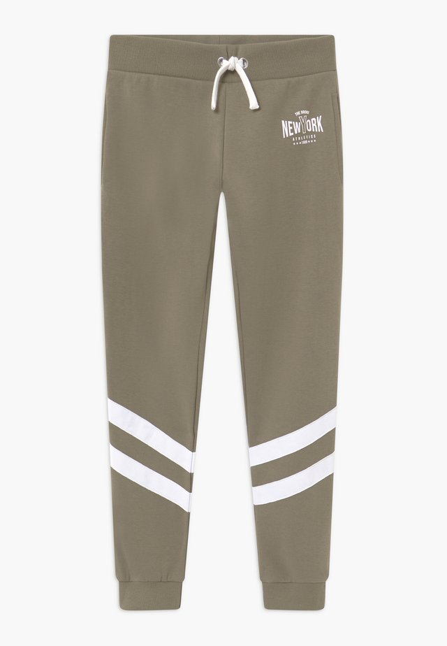 STRIPE LEG NEW YORK - Trainingsbroek - khaki