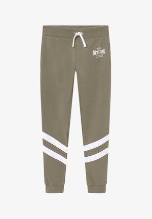 STRIPE LEG NEW YORK - Trainingsbroek - khaki