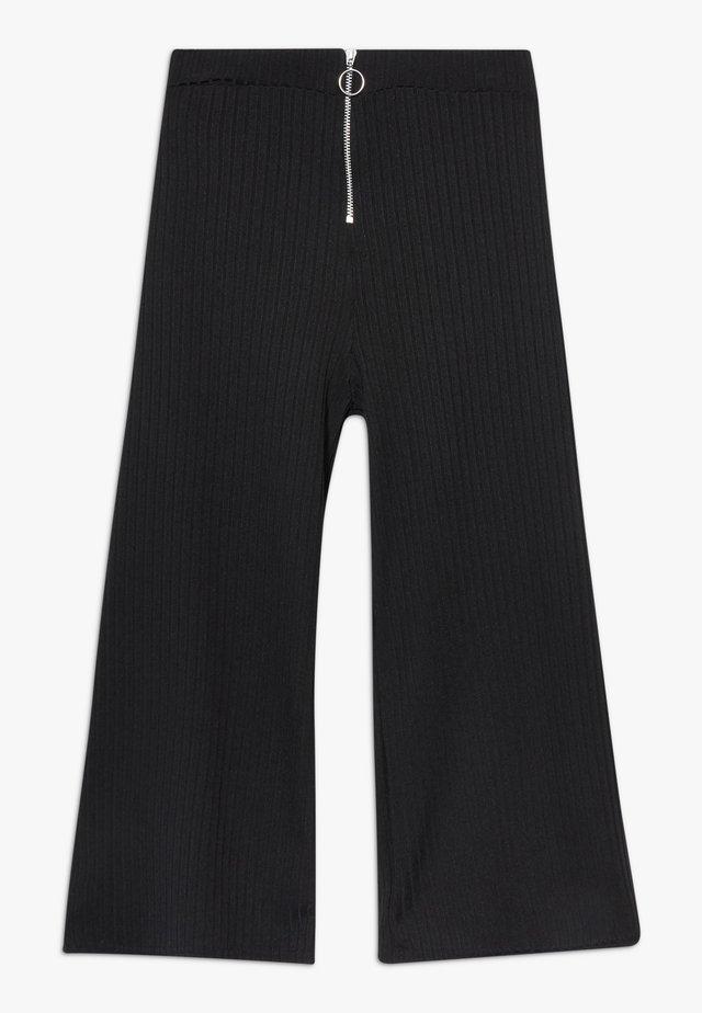 RING PULL CARLY CULOTTE - Stoffhose - black