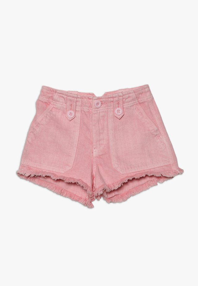 UTILITY POCKET BUTTON - Jeans Shorts - bright pink