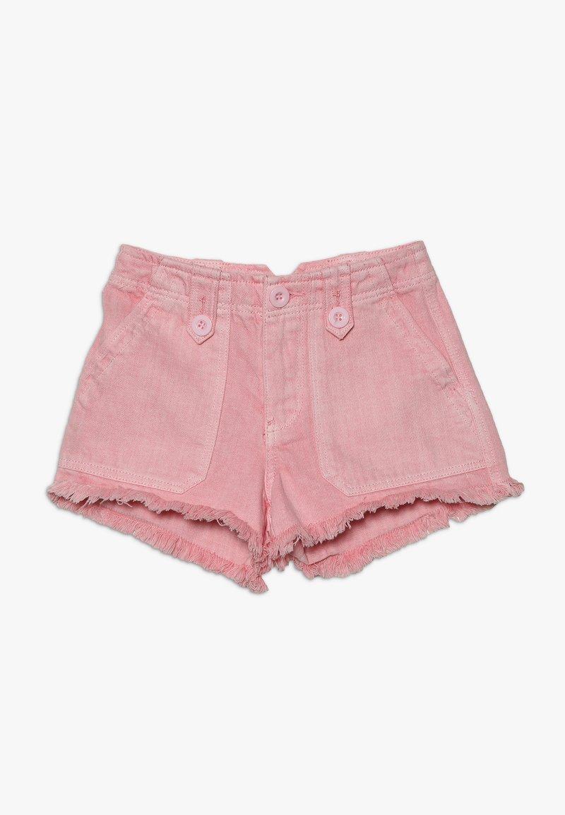 New Look 915 Generation - UTILITY POCKET BUTTON - Denim shorts - bright pink