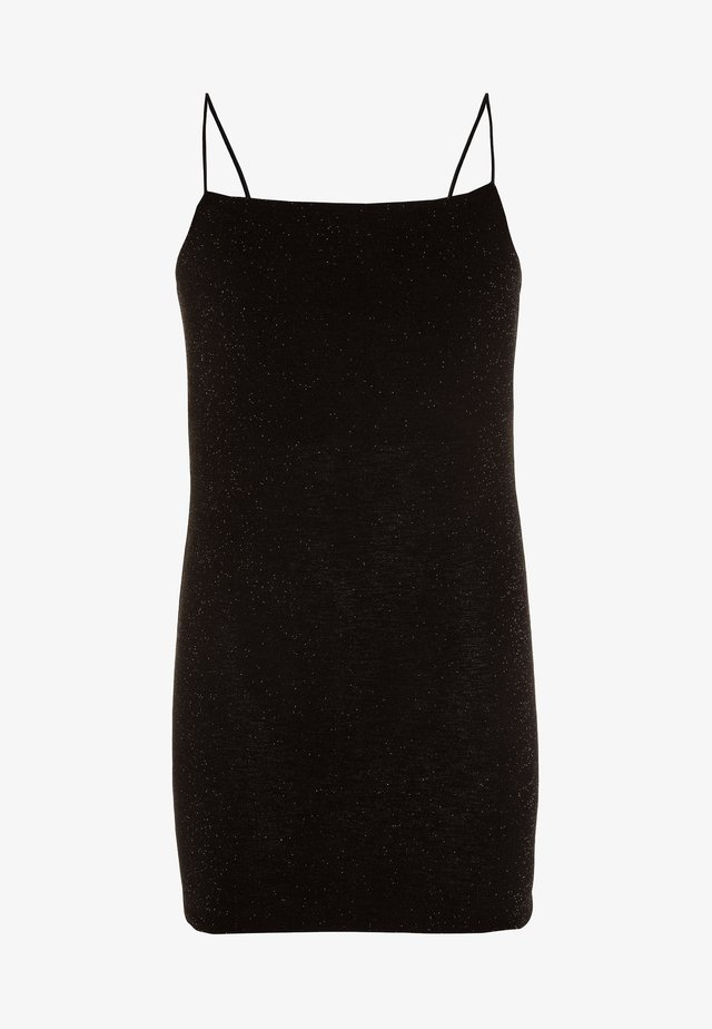 SHIMMER STRAPPY BODYCON - Freizeitkleid - black