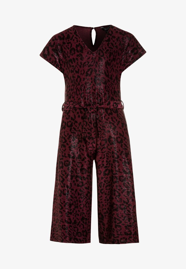 LEOPARD SHIMMER PEGGY - Overall / Jumpsuit - red