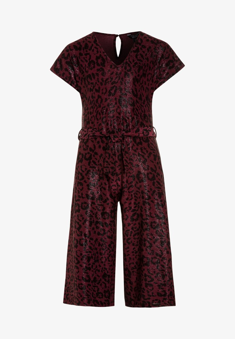 New Look 915 Generation - LEOPARD SHIMMER PEGGY - Overall / Jumpsuit /Buksedragter - red