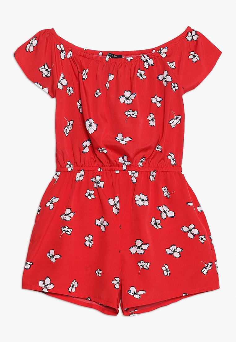 New Look 915 Generation - FLORAL BARDOT PLAYSUIT - Tuta jumpsuit - red