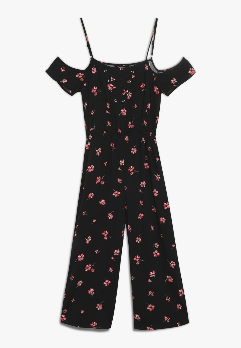 New Look 915 Generation - JADYA BOB COLD SHOULDER SUIT - Jumpsuit - black/white