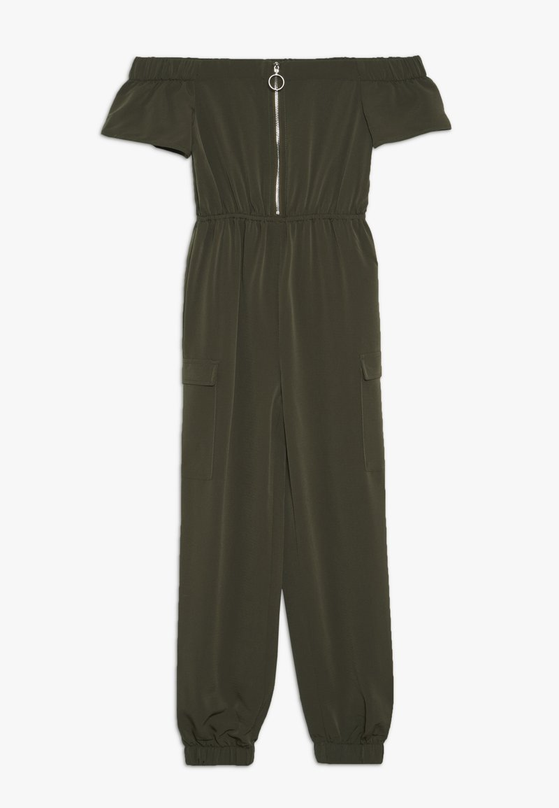 New Look 915 Generation - ZIP FRONT BARDOT  - Jumpsuit - green