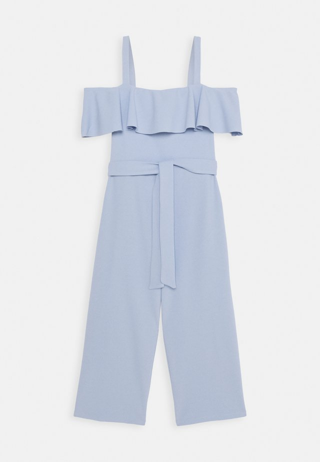 FRILL BELTED - Overall / Jumpsuit - light blue