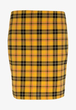 CHECK TUBE SKIRT - Minifalda - yellow