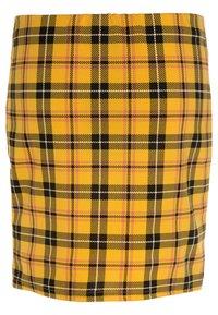 New Look 915 Generation - CHECK TUBE SKIRT - Minisukně - yellow - 1