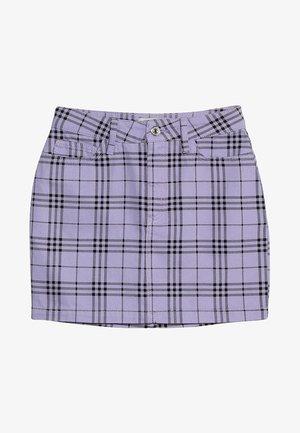 CHECK SKIRT - Áčková sukně - lilac