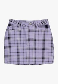 New Look 915 Generation - CHECK SKIRT - Gonna a campana - lilac - 0