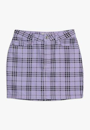 CHECK SKIRT - Gonna a campana - lilac