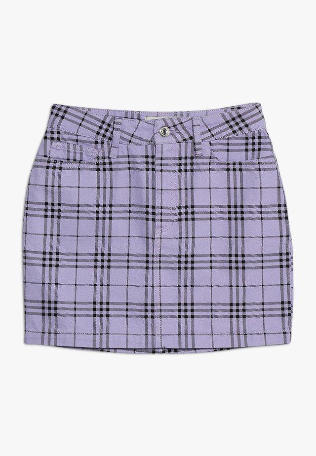 CHECK SKIRT - A-snit nederdel/ A-formede nederdele - lilac