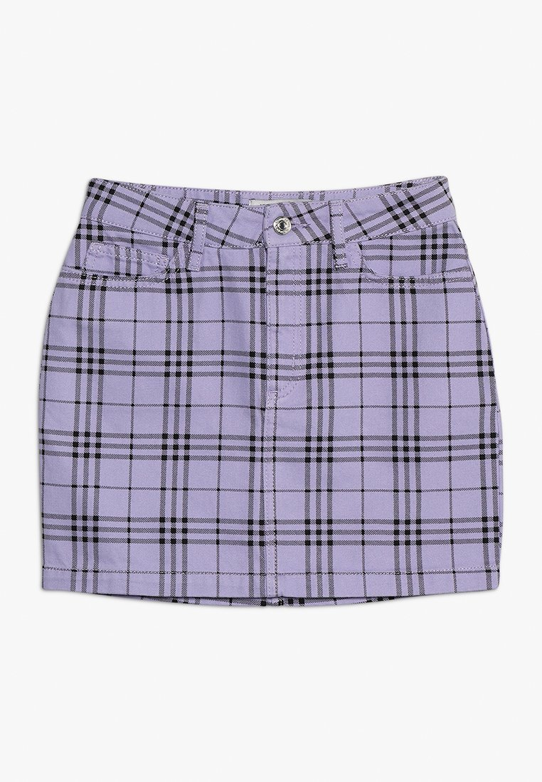 New Look 915 Generation - CHECK SKIRT - Gonna a campana - lilac