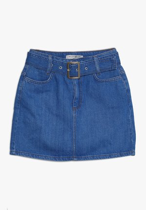 BELTED DENIM SKIRT - Farkkuhame - bright blue