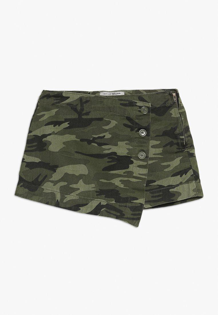 New Look 915 Generation - CAMO SKORT - Minifalda - green