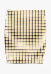 New Look 915 Generation - CARLA CHECK TUBE SKIRT - Minisukně - yellow - 0