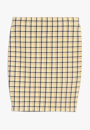 CARLA CHECK TUBE SKIRT - Minijupe - yellow