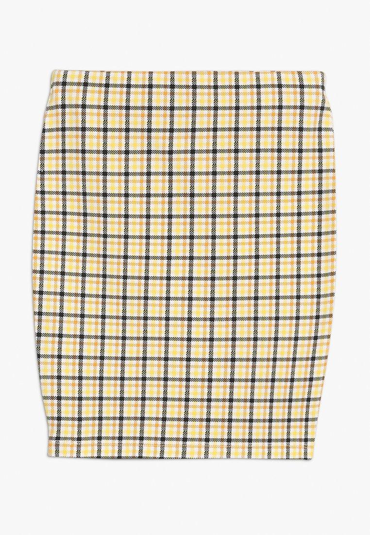 New Look 915 Generation - CARLA CHECK TUBE SKIRT - Minisukně - yellow