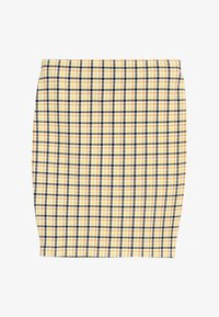 New Look 915 Generation - CARLA CHECK TUBE SKIRT - Minisukně - yellow - 2