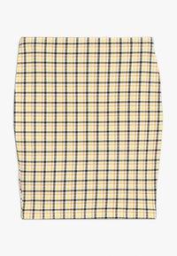 New Look 915 Generation - CARLA CHECK TUBE SKIRT - Minisukně - yellow - 1