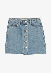 New Look 915 Generation - PARIS BUTTON THROUGH - Denimová sukně - light blue - 3