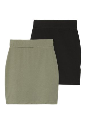 TUBE SKIRT 2 PACK - Minijupe - black