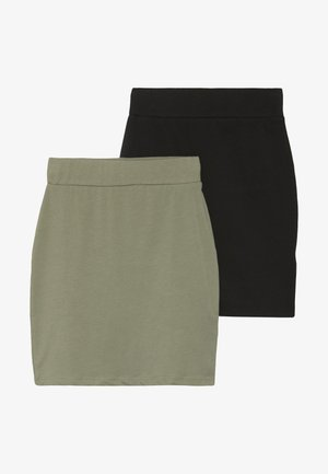 TUBE SKIRT 2 PACK - Minikjol - black