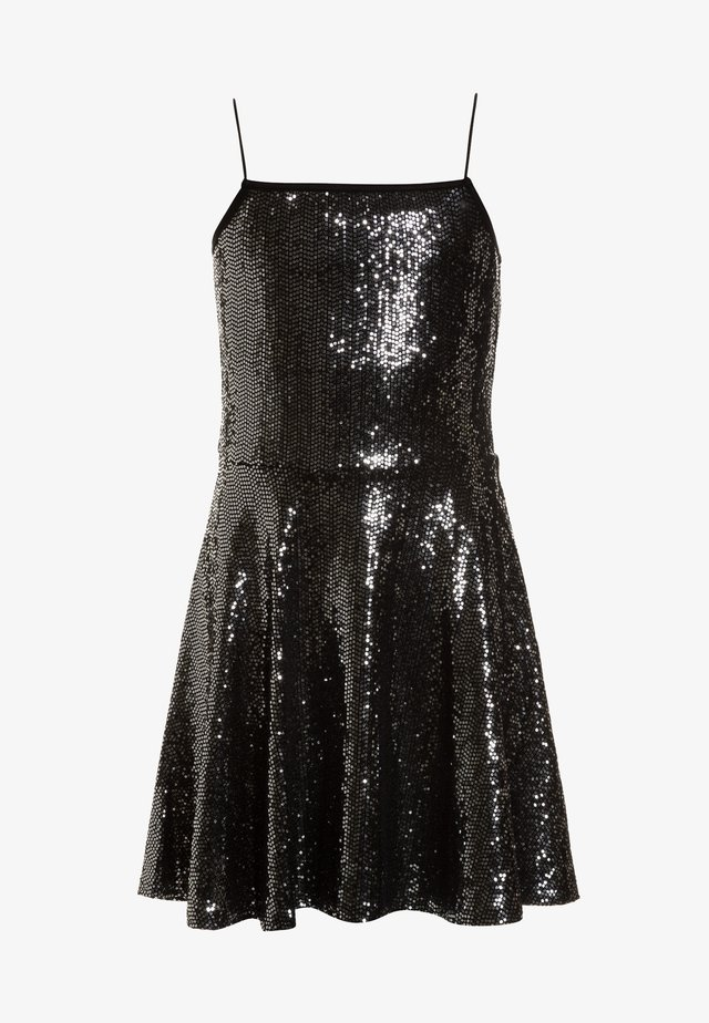 SPARKLE STRAPPY SKATER DRESS - Cocktailkjoler / festkjoler - black