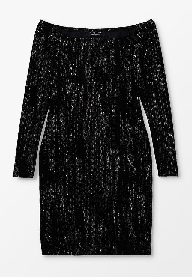 GLITTER - Sukienka koktajlowa - black