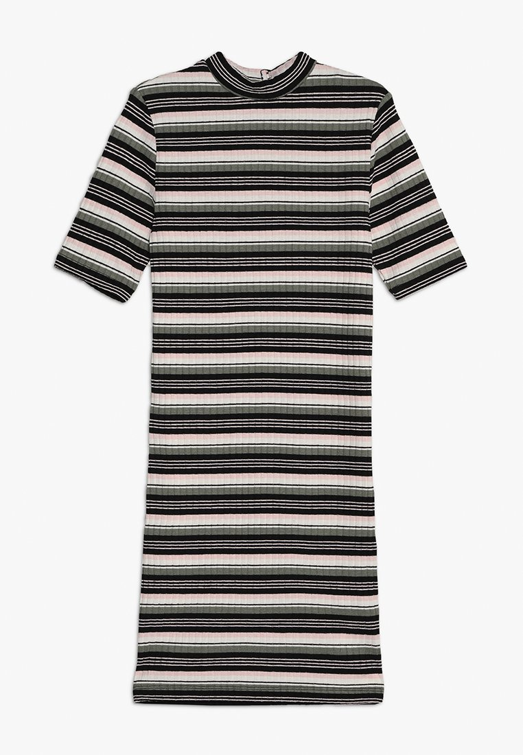 New Look 915 Generation - STRIPE STAND NECK BODYCON DRESS - Jerseykjoler - pink