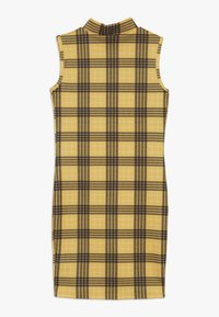 New Look 915 Generation - HIGH NECK CHECK - Robe en jersey - yellow - 1