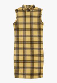 New Look 915 Generation - HIGH NECK CHECK - Robe en jersey - yellow - 0