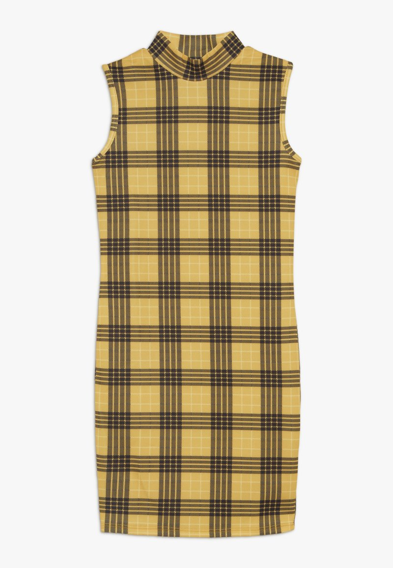 New Look 915 Generation - HIGH NECK CHECK - Robe en jersey - yellow
