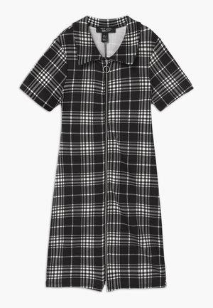 ISLA CHECK PONTE COLLAR - Jersey dress - black