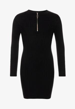 LEAD IN ZIP - Vestido de punto - black