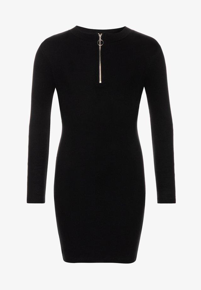 LEAD IN ZIP - Gebreide jurk - black