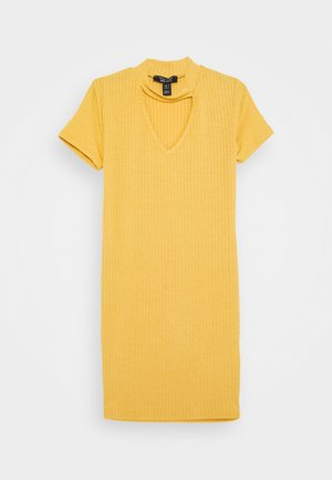 SOPHIE CHOKER - Jersey dress - yellow
