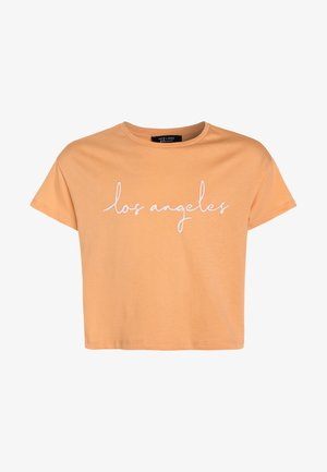 LOS ANGELES SCRIPT LOGO TEE - Print T-shirt - bright orange