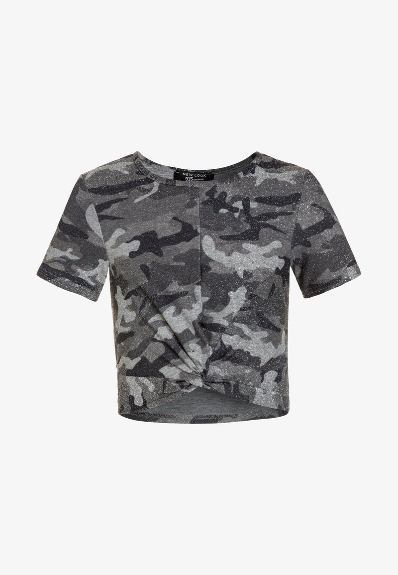 New Look 915 Generation - SHIMMER CAMO TWIST FRONT TEE - T-shirts print - green