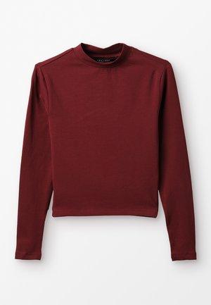 STAND NECK FITTED TEE - Langærmede T-shirts - dark burgundy