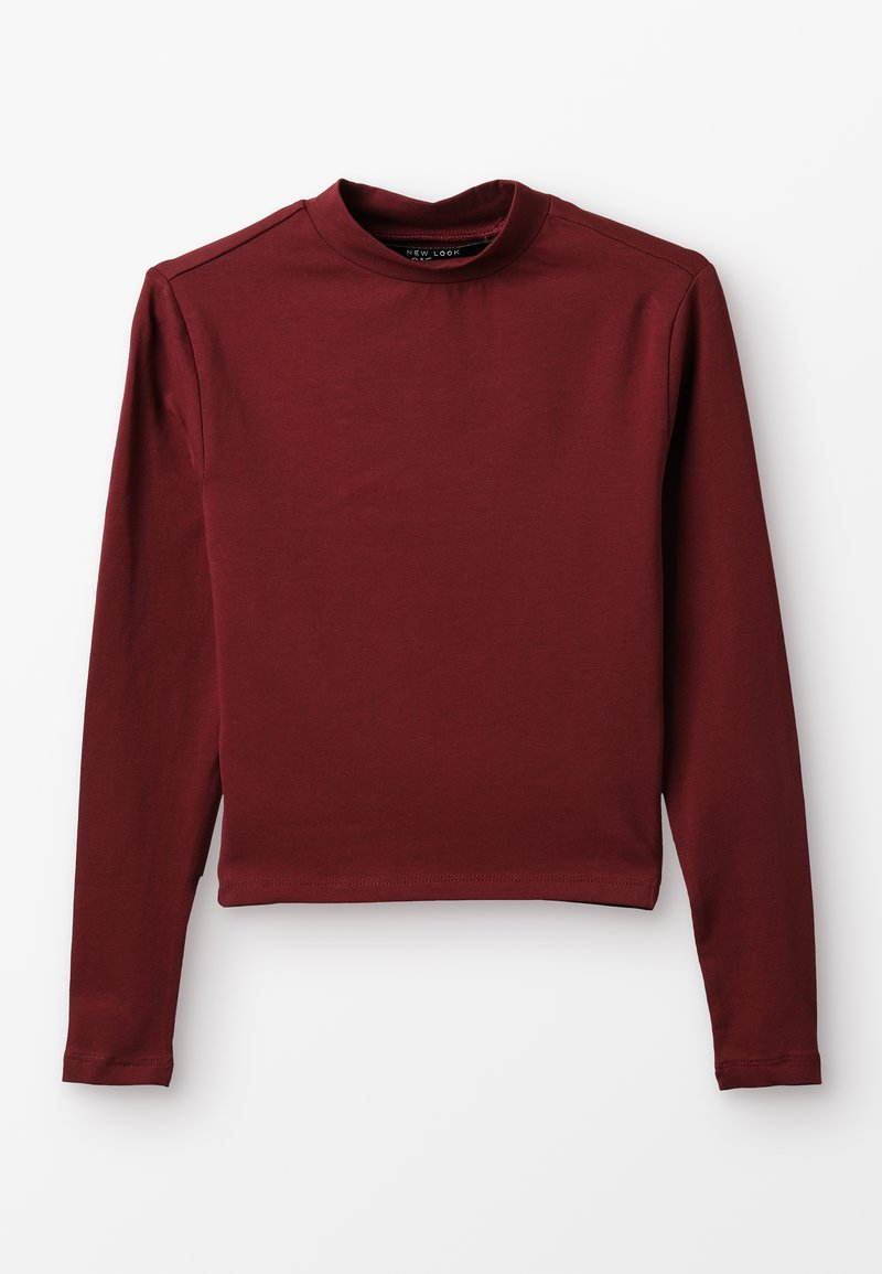 New Look 915 Generation - STAND NECK FITTED TEE - Long sleeved top - dark burgundy