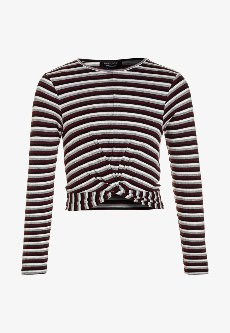 New Look 915 Generation - ROSIE STRIPE TWIST - Topper langermet - black