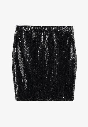 SPARKLE TUBE - Pencil skirt - black