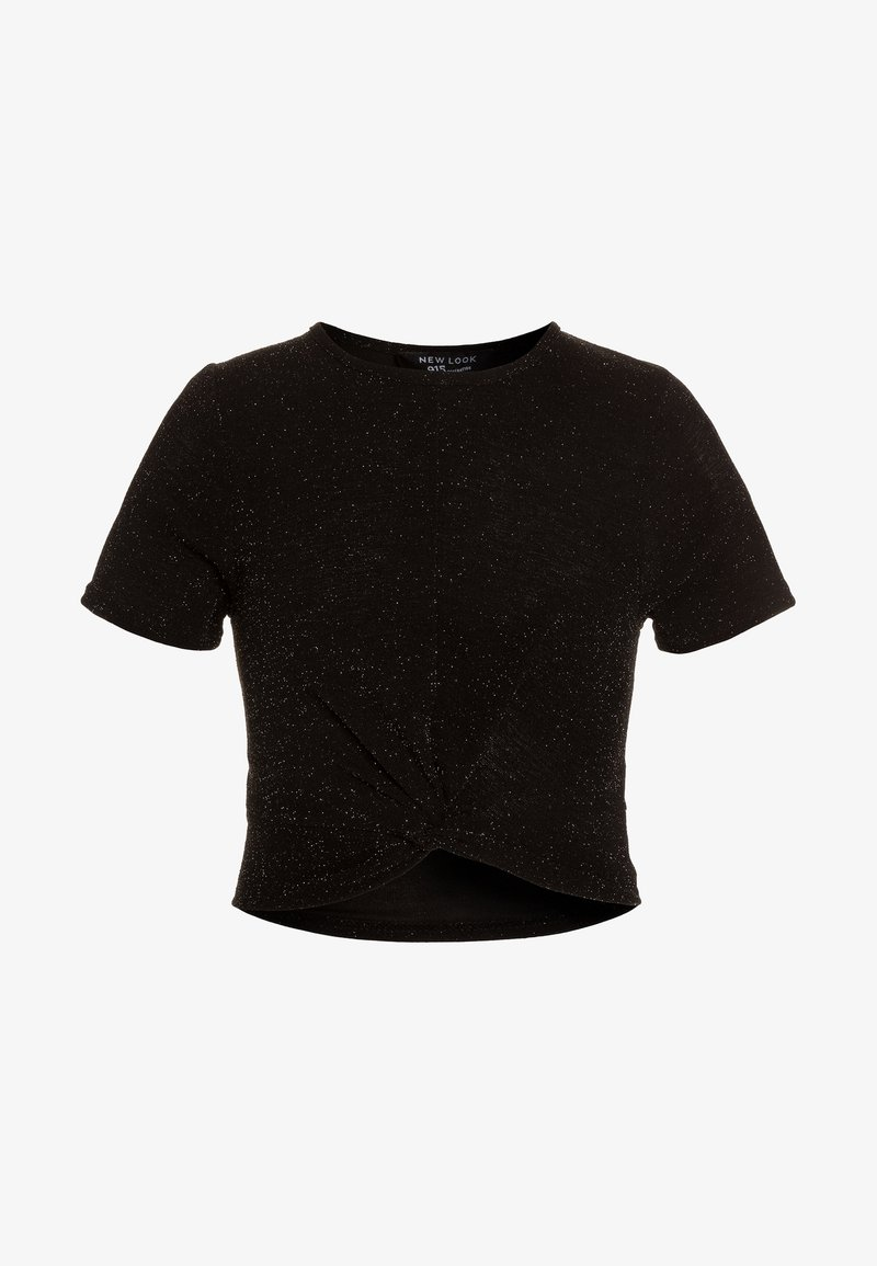 New Look 915 Generation - SHIMMER TWIST FRONT TEE - T-shirts print - black