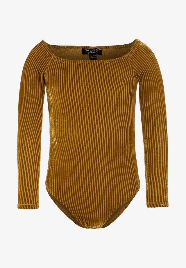 BARDOT BODY - Bluzka z długim rękawem - dark yellow