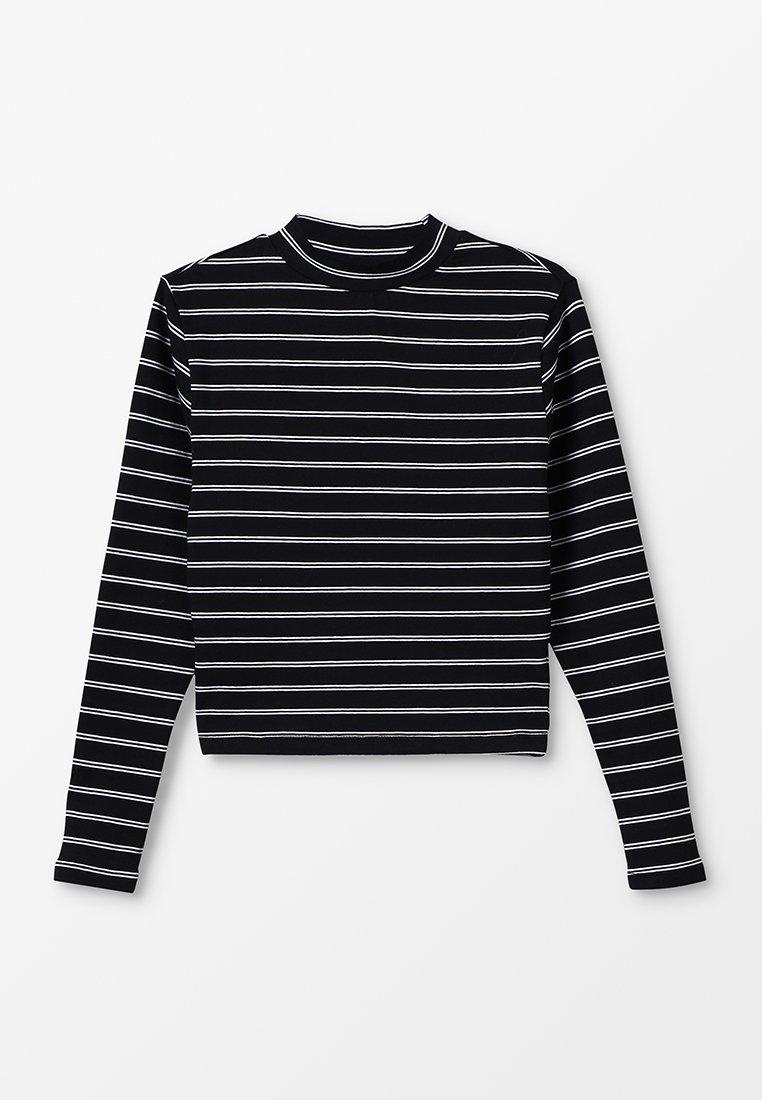 New Look 915 Generation - IPE STAND NECK FITTED TEE - Pitkähihainen paita - black pattern