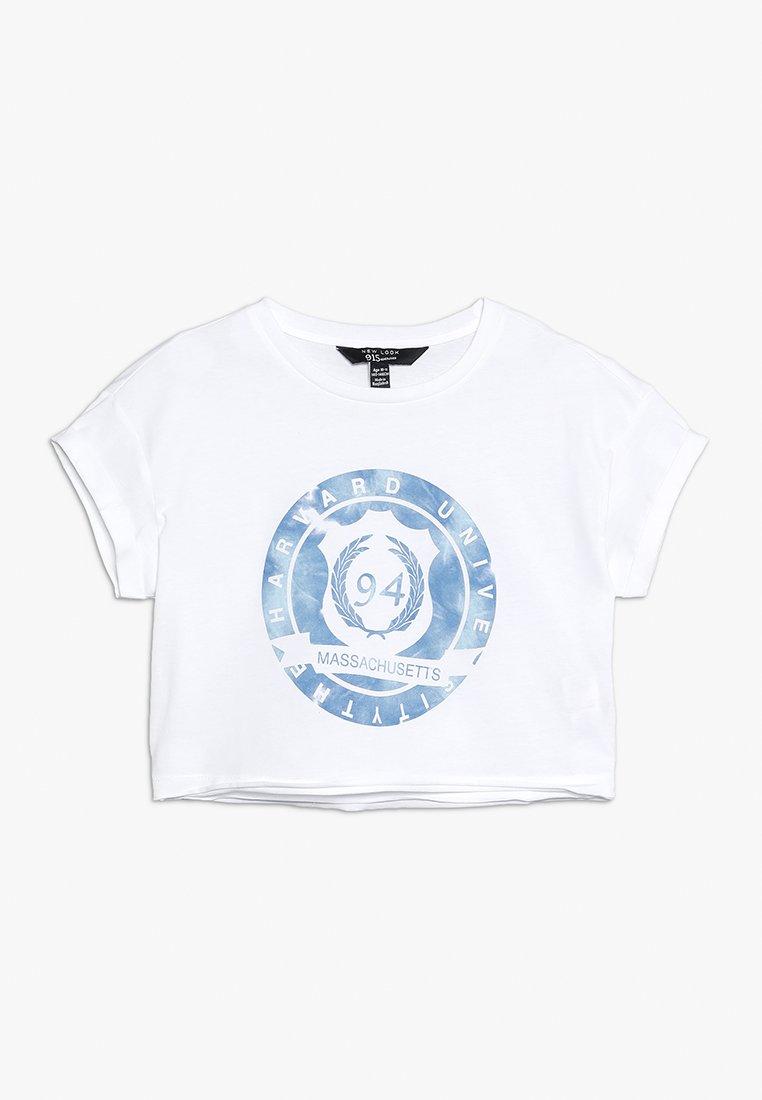 New Look 915 Generation - TIE DYE LOGO TEE - T-shirts print - white